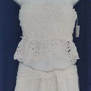 Free People White Tessa Set